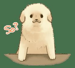 The Golden Retriever puppy!!2 sticker #11978754