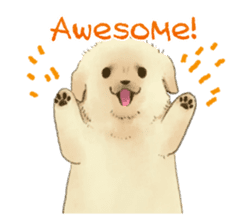The Golden Retriever puppy!!2 sticker #11978755