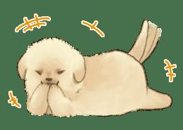 The Golden Retriever puppy!!2 sticker #11978757