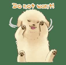 The Golden Retriever puppy!!2 sticker #11978759