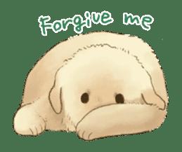 The Golden Retriever puppy!!2 sticker #11978761