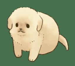 The Golden Retriever puppy!!2 sticker #11978762