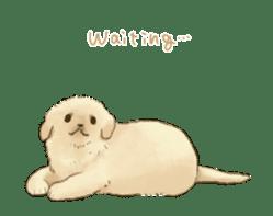 The Golden Retriever puppy!!2 sticker #11978763