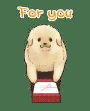 The Golden Retriever puppy!!2 sticker #11978769