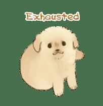 The Golden Retriever puppy!!2 sticker #11978770