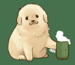 The Golden Retriever puppy!!2 sticker #11978771