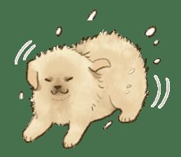 The Golden Retriever puppy!!2 sticker #11978773