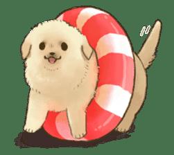 The Golden Retriever puppy!!2 sticker #11978774