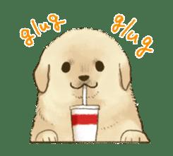 The Golden Retriever puppy!!2 sticker #11978777