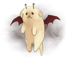 The Golden Retriever puppy!!2 sticker #11978780