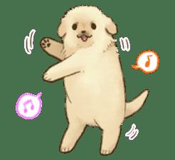 The Golden Retriever puppy!!2 sticker #11978782