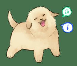 The Golden Retriever puppy!!2 sticker #11978783