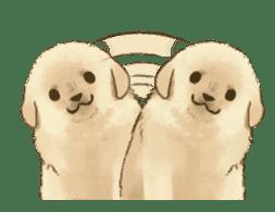 The Golden Retriever puppy!!2 sticker #11978784