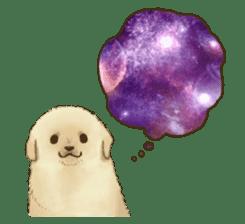 The Golden Retriever puppy!!2 sticker #11978787