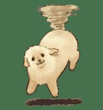 The Golden Retriever puppy!!2 sticker #11978788