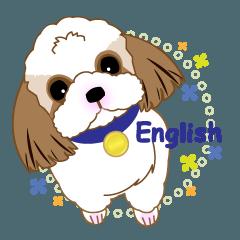 Energetic Shih Tzu sticker