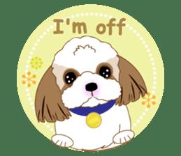 Energetic Shih Tzu sticker sticker #11979912