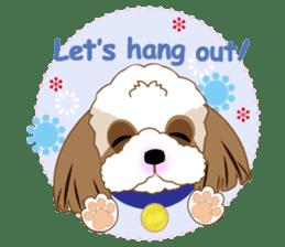 Energetic Shih Tzu sticker sticker #11979918