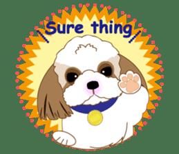 Energetic Shih Tzu sticker sticker #11979925