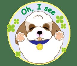 Energetic Shih Tzu sticker sticker #11979926