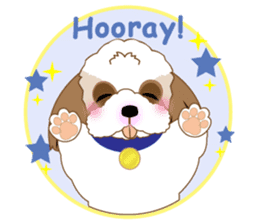 Energetic Shih Tzu sticker sticker #11979928