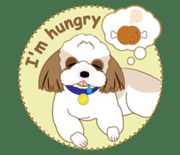 Energetic Shih Tzu sticker sticker #11979932