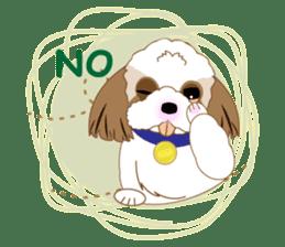 Energetic Shih Tzu sticker sticker #11979935