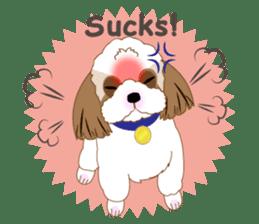 Energetic Shih Tzu sticker sticker #11979944