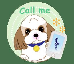 Energetic Shih Tzu sticker sticker #11979949