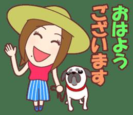 Natural healing women Summer Goodmorning sticker #11980458