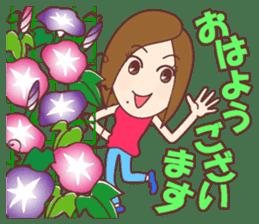 Natural healing women Summer Goodmorning sticker #11980462