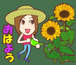 Natural healing women Summer Goodmorning sticker #11980464