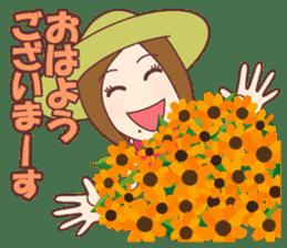 Natural healing women Summer Goodmorning sticker #11980465