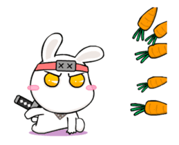 Kotaro Rabbit Ninja sticker #11982518