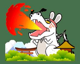 Kotaro Rabbit Ninja sticker #11982534