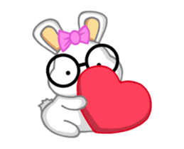 NERDY BUNNY (animated) sticker #11995679