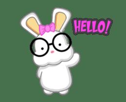 NERDY BUNNY (animated) sticker #11995682