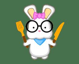 NERDY BUNNY (animated) sticker #11995683