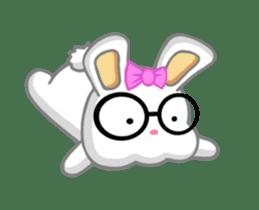 NERDY BUNNY (animated) sticker #11995684