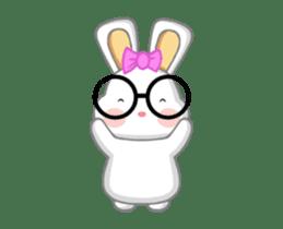 NERDY BUNNY (animated) sticker #11995686