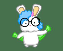NERDY BUNNY (animated) sticker #11995691