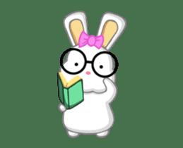 NERDY BUNNY (animated) sticker #11995699