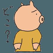 สติ๊กเกอร์ไลน์ simple move pig