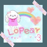 สติ๊กเกอร์ไลน์ Message of a lopear rabbit3 -movie-