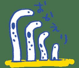 happy Spotted garden eel sticker #12001593