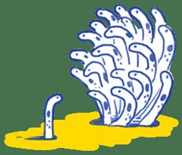 happy Spotted garden eel sticker #12001604