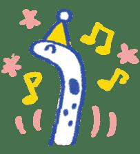 happy Spotted garden eel sticker #12001615