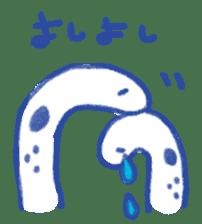 happy Spotted garden eel sticker #12001627