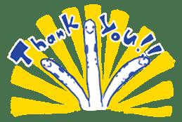 happy Spotted garden eel sticker #12001629