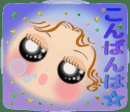 Big eyes girl stickers sticker #12001752